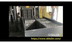 Scrap Baling Machine for Aluminum Foil Container Production Line from China Manufacturer Skbaler- Video