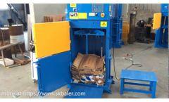 Vertical marine baler VMB1 is versatile to crush steel drums and press cardboard garbage - Skbaler - Video