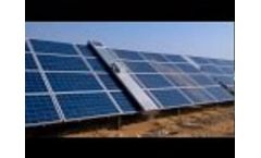 Water free automatic cleaning robot for solar power plants Video