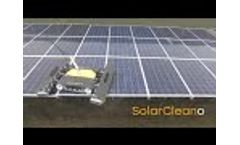 SolarCleano, efficient solar panel cleaning robot Video