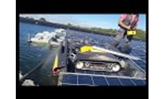 SolarCleano robot cleaning floating solar panels Video