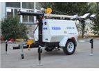 Genlitec - Model GLT1200L-9M (LED) - Heavy-Duty LED Light Towers Generator