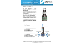 Rotorflush - Model O1608-16 - Sample Pump for Analysers Brochure