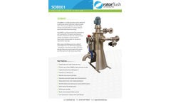 Rotorflush - Model SOB001 - Self Cleaning Inline Filter System with Continuous Backwash and Automatic Purge Brochure