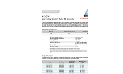 TriSep - Model X-20 - Low Fouling Membrane - Brochure