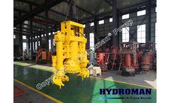 Hydroman™ Bomba de dragado excavadora hidráulica sumergible