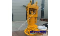 Hydroman™ Hydraulic submersible clay dredging pump with water jet ring