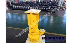 Hydroman™ - submersible dredging slurry sand pump driven by electric motor and hydraulic.