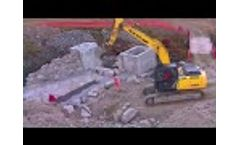 Construction of bridge for an alpine hydroelectric plant Video