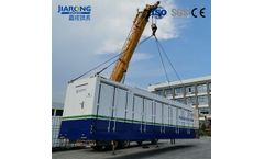 Container leachate treatment machine