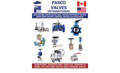 Pasco - Plastic Valves - Brochure