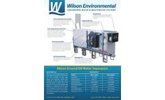 Wilson - Model WOS - Above Ground Oil Water Separators Brochure