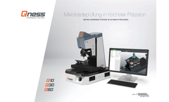Qness - Model M - Micro Hardness Tester Brochure