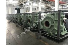 15 sets 12/10ST-AH heavy duty slurry pumps shipping to a steel mill for Tailings transportation