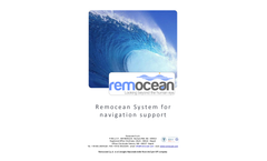Remocean - Oil Spill Detection & Propagation System Brochure