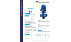 North Ridge - Model ECO SNL - Vertical Inline Centrifugal Pump Brochure