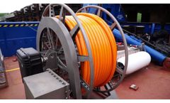 SDW Deck winch for towed marine HV power cable line of a source or towed marine seismic streamer - Video