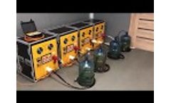 Simultaneous operation of four MultiJack energy sources combined in an array - Video
