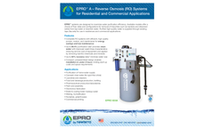 EPRO - Model A - Reverse Osmosis System Brochure