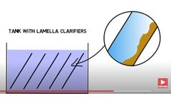 Particle settling with lamella clarifiers/ tube settlers