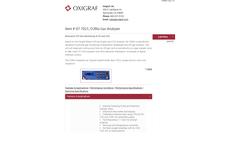 Oxigraf - Model O2 and CO2 - Bioreactor Off-Gas Monitoring Brochure