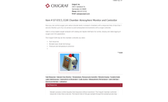 Oxigraf - Model O2iR - Chamber Atmosphere Monitor and Controller  Brochure