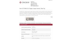Oxigraf - Model O2L - Single Channel Table Top Oxygen Analyzer Brochure