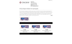 Oxigraf - Model O2Cap - Oxygen Analyzer for Capnography Brochure