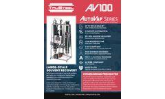 AUTOVAP - Model AV 100 - Solvent Recovery System - Brochure