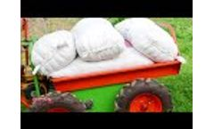 4x4 Wheel Olive Harvesting Barrows Transport Cart - Video