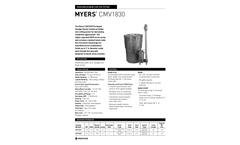 Pentair Myers - Model CMV1830 - Pre-Plumbed Sewage Package - Brochure