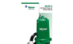 Myers - MG200 Series - 2HP Centrifugal Automatic Grinder Vortex Impeller - Brochure