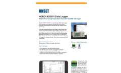 HOBO - Model MX1101 - Low Energy Temperature/Relative Humidity Data Logger Brochure