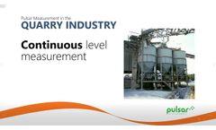 Quarry Instrumentation Solids Level & Volume Measurement - Video