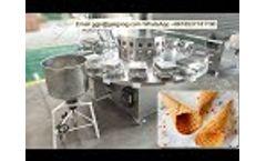 Semi Automatic Ice Cream Waffle & Sugar Cones Making Machine - Video