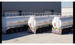 ALUMINUM Fuel TANKER for Jet-A1. This semi-trailers was produced in Turkey for use in Africa Ghana- Video