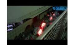 Hot Iron-manganese Sinter conveying - Video