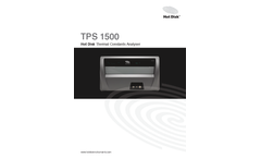 Hot-Disk - Model TPS 1500 - Thermal Conductivity Meter Brochure