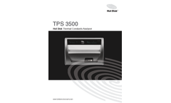 Hot-Disk - Model TPS 3500 - Thermal Conductivity Meter Brochure