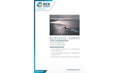 ECA - Acoustic Range for Submarine Acoustic Brochure