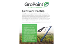 GroPoint Profile - Multi-Segment Soil Moisture and Temperature Profiling Probe Brochure