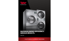 UniMac - Model UTT30N - 30 lb Capacity Commercial Stack Tumble Dryer Brochure