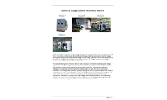 Dryfree - Model DY - Industrial Sludge Dry and Dehumidify Machine Brochure