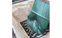 Bigteeth - Model BS800 - Industrial Solid Waste Twin Shaft Shredder Waste Oil Tank Double Shaft Shredder
