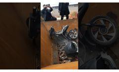 Double Shaft Shredder For Crushing Waste Motorcycle