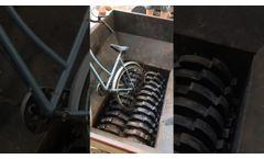 Twin Shaft Shredder Crush Up Waste Bicycle