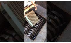 Solid Metal Waste Double Shaft Shredder