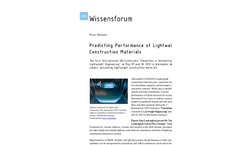 Predicting Performance Of Lightweight Construction Materials Brochure
