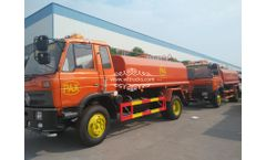 2 Units of Dongfeng Water Sprinkler Truck (10000 Liters) with Cummins Engine Shipped to Our Customer in PAX Cleaning Service Company in Timor-Leste