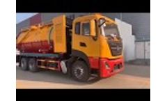 6x4 Dongfeng brand 16000liter to 18000liters sewage suction trucks - Video